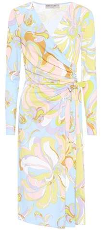 Emilio Pucci Silk-blend wrap dress