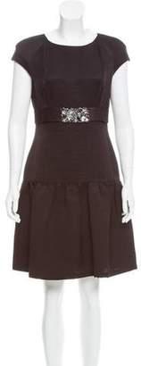 Valentino Embellished Silk-Blend Dress