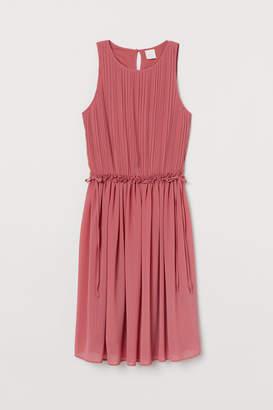 H&M Pleated Chiffon Dress - Red