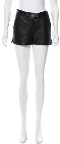 A.L.C.A.L.C. Leather Mini Shorts