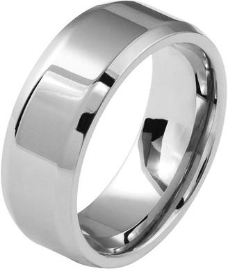 Titanium Beveled Edge 6mm Polished Ring