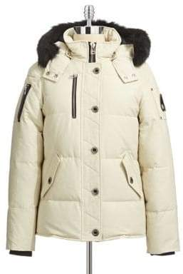 Moose Knuckles 3Q Fur Trim Down Jacket