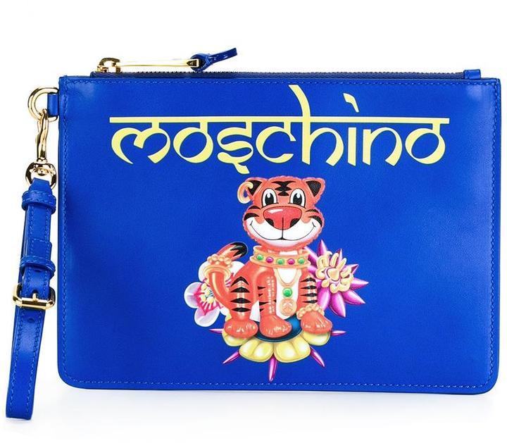 MoschinoMoschino jewelled tiger clutch bag