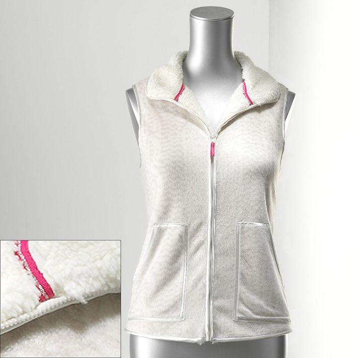 Vera Wang Simply vera sherpa-lined fleece vest - women's
