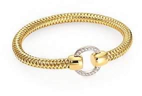 Roberto Coin Women's Primavera Diamond and 18K Yellow Gold Woven Bracelet