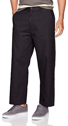 Obey Men's Loiter Big fits Flooded Pants