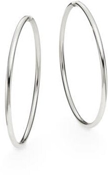 """Saks Fifth Avenue Sterling Silver Hoop Earrings/2.75"""""""
