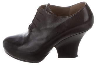 Marni Leather Ankle Booties Black Leather Ankle Booties