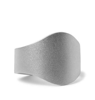 Miansai Cigar Brushed Sterling Silver Ring