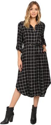 Christin Michaels Plaid Shirtdress Hard Belt $74 thestylecure.com