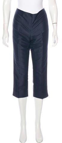 Ralph Lauren Silk Cropped Pants