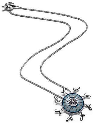 Gia Belloni Blue Enamel Vision Pendant Reduced Price