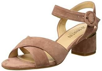 JB Martin Women's Mabel Ankle Strap Sandals, Pink (Chevre Velours Blush)