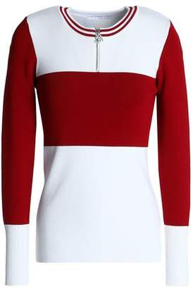 Sandro Color-Block Knitted Top