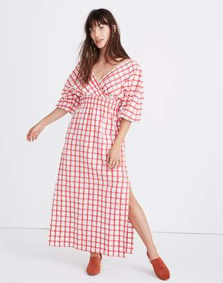 Madewell Mara Hoffman Nami Cover-Up Dress in Poppy Plaid