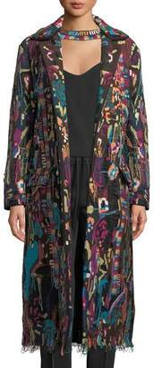 Valentino Embroidered Overcoat