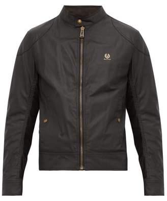 Belstaff Kelland Waxed Cotton Short Jacket - Mens - Black