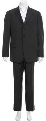 Salvatore Ferragamo Three Button Wool Suit