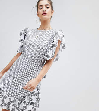 Reclaimed Vintage inspired mixed wrap dress
