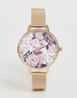 Olivia Burton OB16LP01 Wildflower demi mesh watch