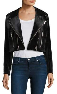 The Kooples Velvet Biker Jacket