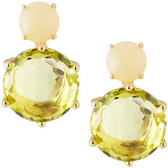 Ippolita 18k Rock Candy 2-Stone Post Earrings in Yellow Opal and Green-Gold Citrine
