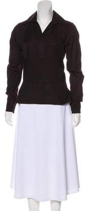 Gucci Corset-Accented Long Sleeve Top