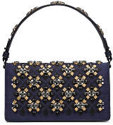 Tory Burch Cleo Embellished Fold-Over Clutch