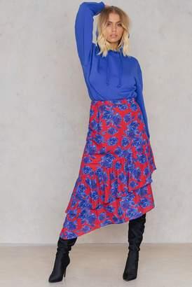 Na Kd Trend Bottom Frill Midi Skirt
