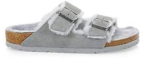 Birkenstock Women's Arizona Shearling-Lined Suede Sandals