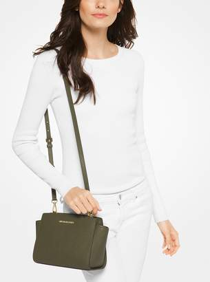MICHAEL Michael Kors Selma Medium Metallic Leather Crossbody