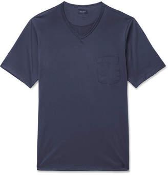 Hanro Poplin-Trimmed Cotton-Jersey T-Shirt