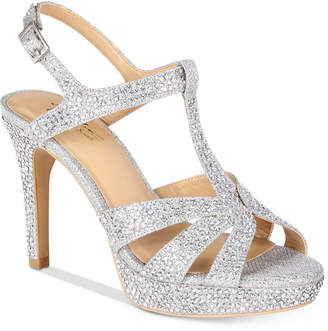 Thalia Sodi Verrda2 Embellished Platform Dress Sandals, Created for Macy's Women's Shoes