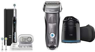 Oral-B Pro 7000 Black Electric Power Rechargeable Toothbrush & Braun 7865cc Wet & Dry Electric Shaver
