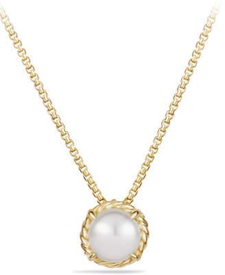 David Yurman Chatelaine 7mm 18K Gold Pendant Necklace