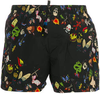 DSQUARED2 summer camp swim shorts