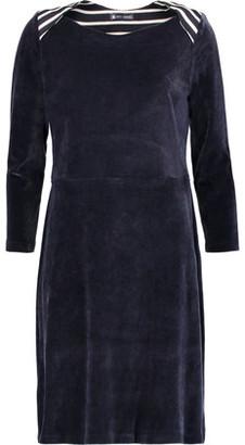 Petit Bateau Striped Cotton And Modal-Blend Trimmed Velvet Dress $139 thestylecure.com