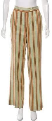 Etro Linen Stripe Wide-Leg Pants