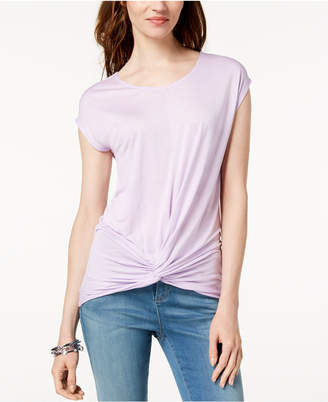 INC International Concepts I.n.c. Petite Twist-Hem Top, Created for Macy's