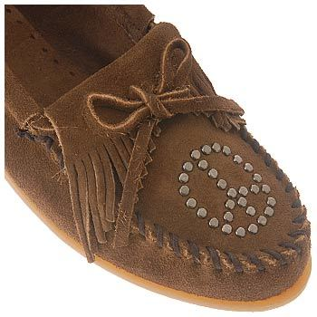 Minnetonka Moccasin Women's Peace Sign Fringe Moc