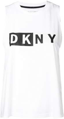 Donna Karan logo tank top