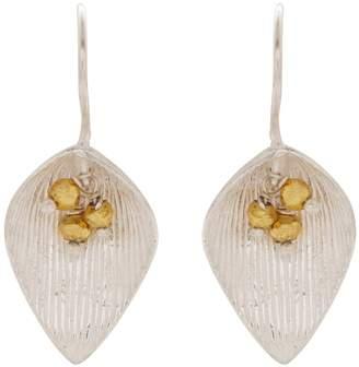 Carousel Jewels - Silver & Gold Petal Earrings