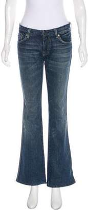 7 For All Mankind Mid-Rise Wide-Leg Jeans