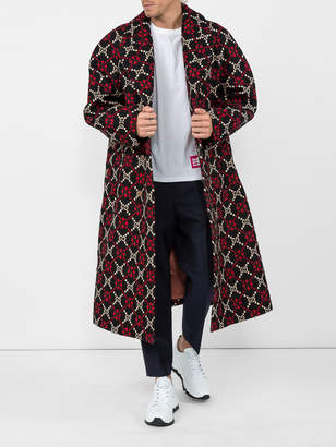 Gucci Double-breasted logo wool coat