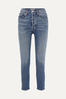 RE/DONE Originals High-rise Ankle Crop Skinny Jeans - Mid denim