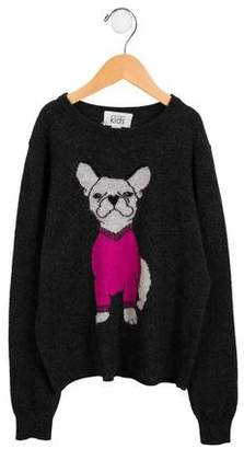Autumn Cashmere Girls' Cashmere Intarsia Sweater