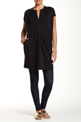 Joan Vass Slit Neck Tunic $158 thestylecure.com