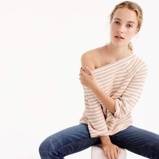 Relaxed boatneck sweater in stripe $59.50 thestylecure.com