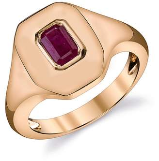 SHAY Ruby Essential Pinky Ring - Rose Gold