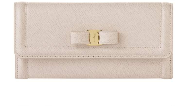 Salvatore Ferragamo Vara Bow Leather Purse, White, One Size